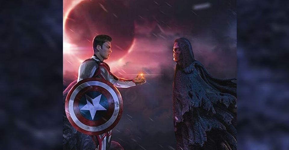 ดูหนังออนไลน์ Captain America ส่งคืน Soul Stone เป็น Red Skull ใน Art Endgame Fan