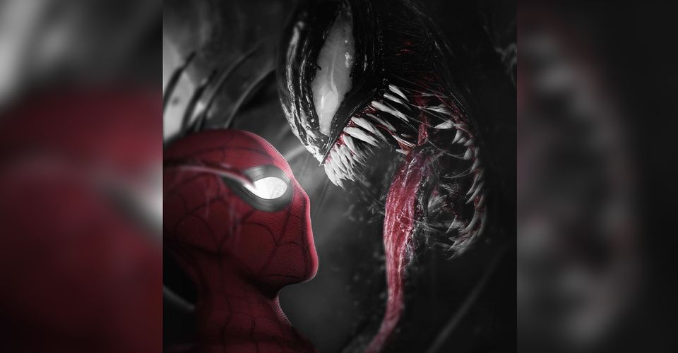 ดูหนังออนไลน์ Spider-Man 3 Fan Art แสดงพิษที่ปรากฏเหนือฮีโร่ของทอมฮอลแลนด์