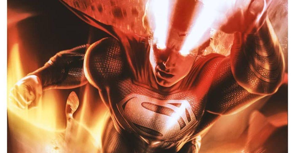ดูหนังออนไลน์ Black Suit Superman ปลดปล่อยพลังของเขาในโปสเตอร์ Justice League Snyder Cut Fan