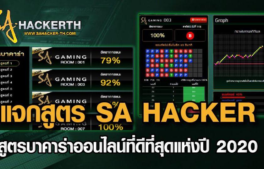 SA Hacker โปรแกรมสูตรบาคาร่า ที่พัฒนาโดยทีมงาน SA